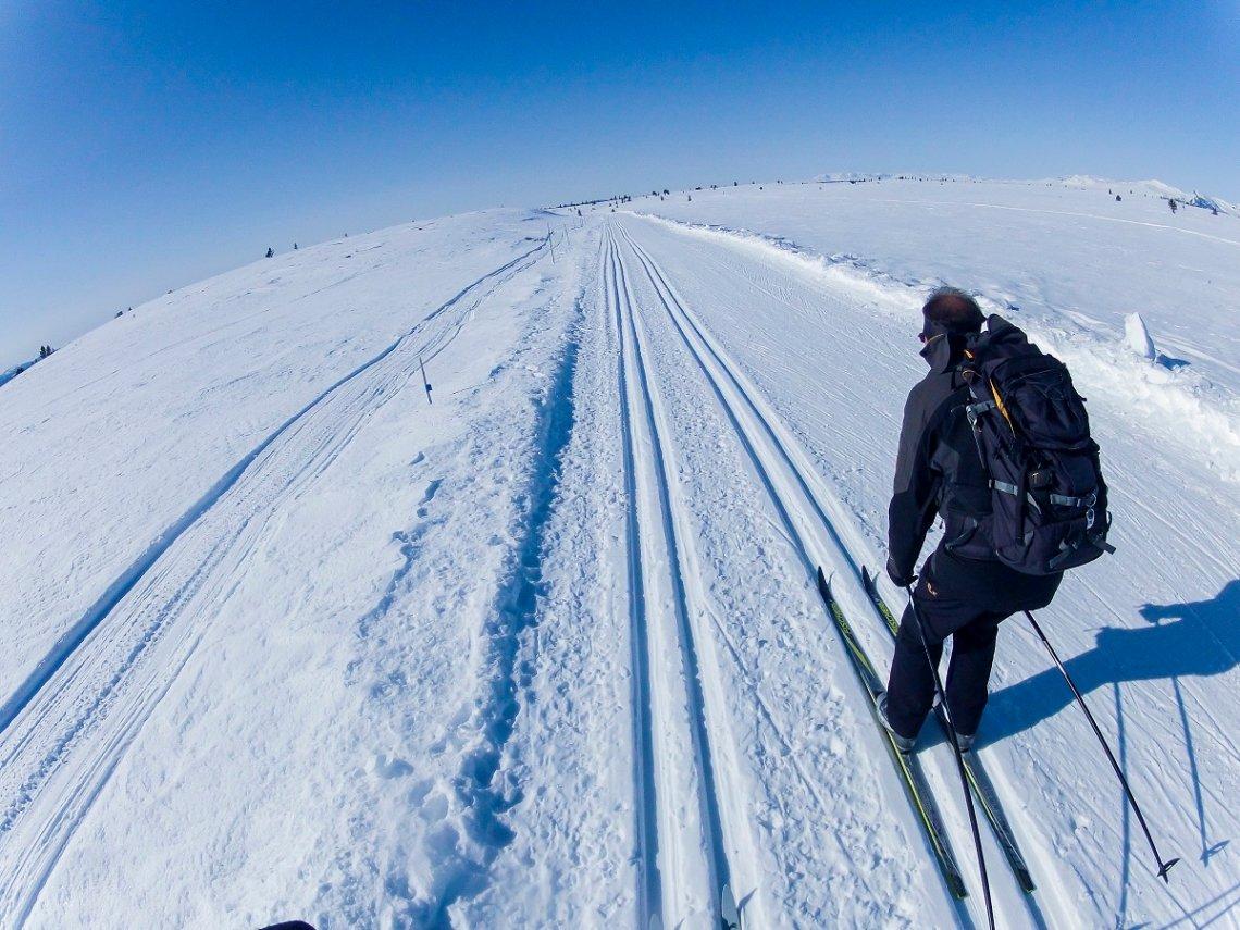 Gespurte Loipen für Skilanglauf im Golsfjell in Norwegen