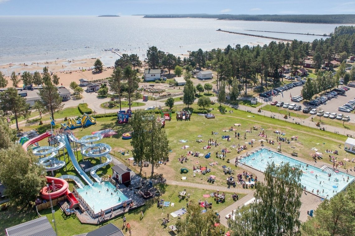 Campingplatz Byske Havsbad, Nordschweden