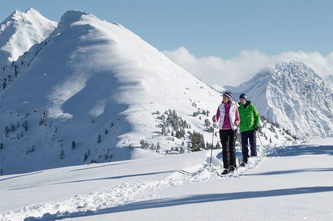 Schneeschuhwanderung bei Schladming, Österreich