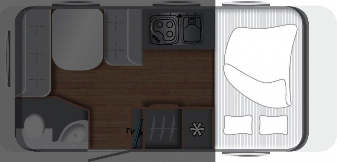 Wohnwagen Grundriss Querbett