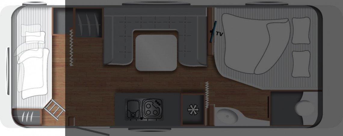 Wohnwagen Grundriss Etagenbett