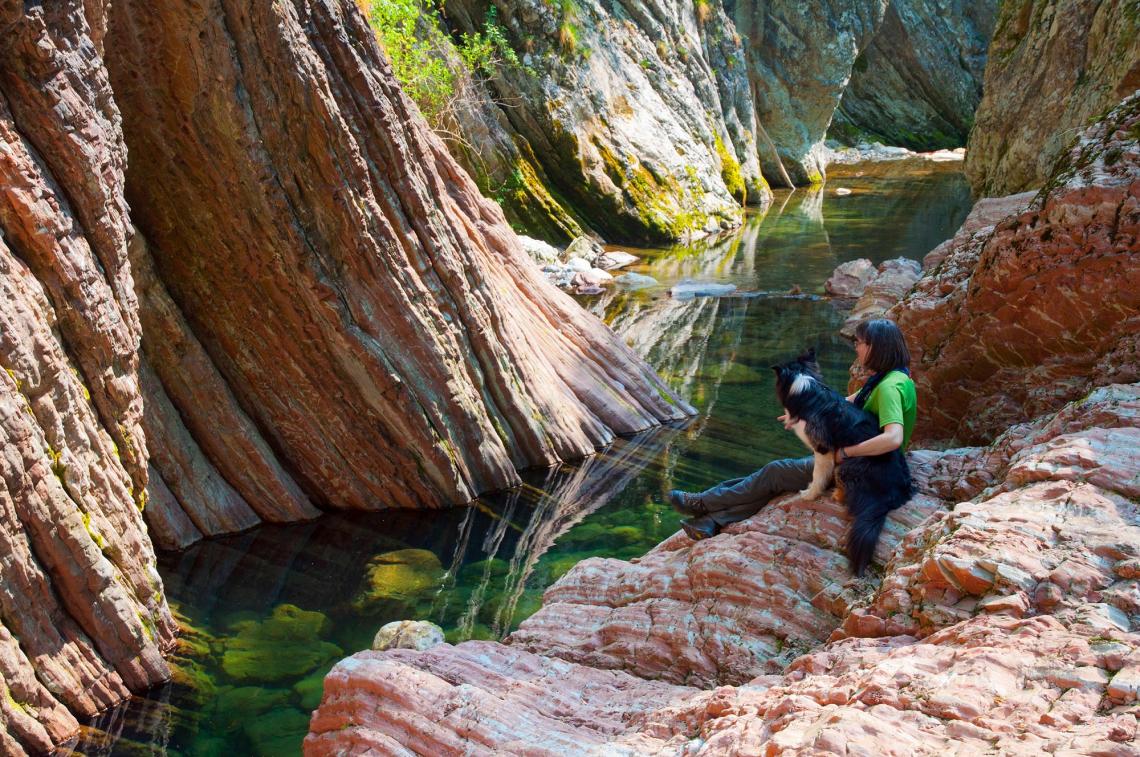 Breggia Fluss in der Breggia Schlucht