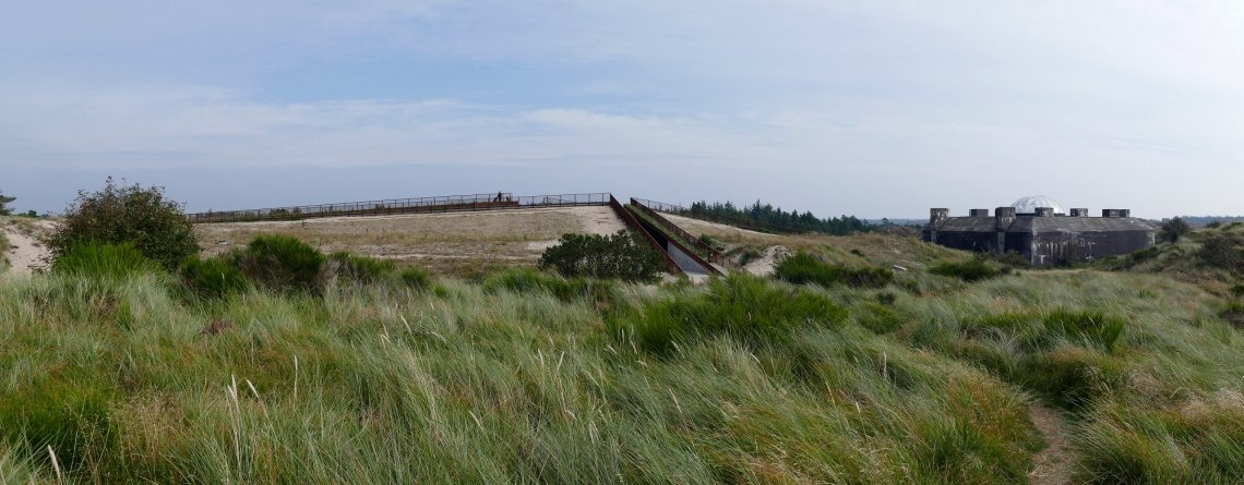 Tirpitz Museum and bunker in the middle of the dunes from the outside