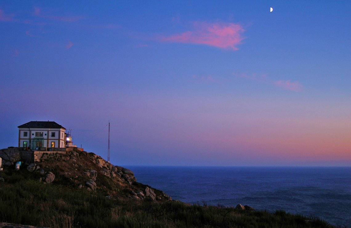 Cape Finisterre at sunset