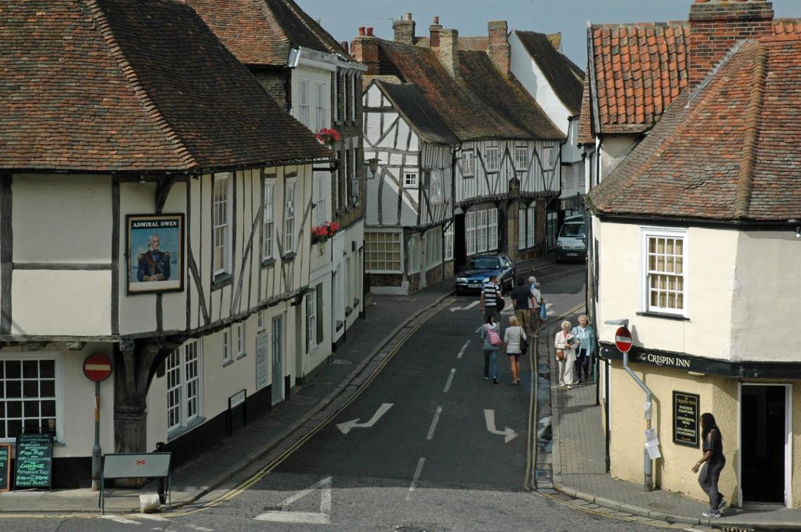 Historische Fachwerkhäuser in Sandwich, Kent