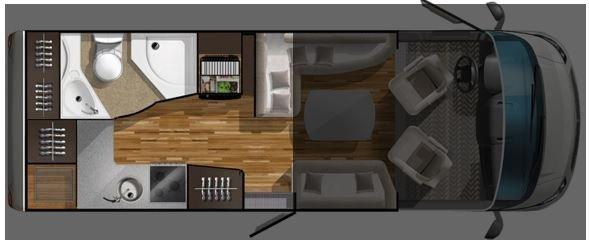 Grundriss Heckküche Wohnmobil