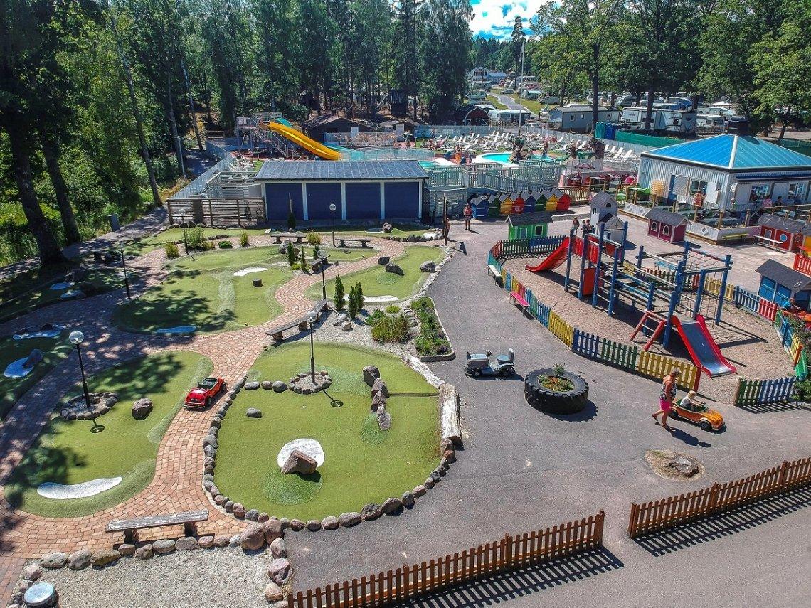 Kids area on the campsite Ursand Resort & Camping in Sweden