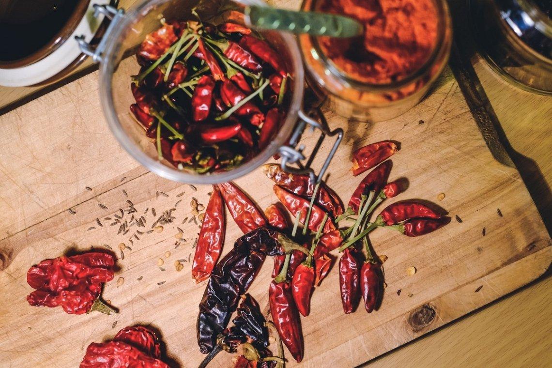 hete chilipepers is een handelsmerk van de Basilicata-keuken