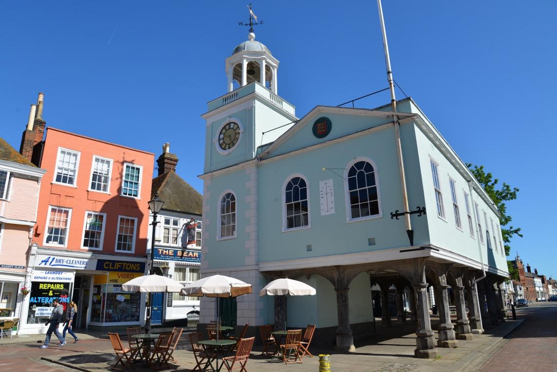 Marktplatz von Faversham, Kent, England
