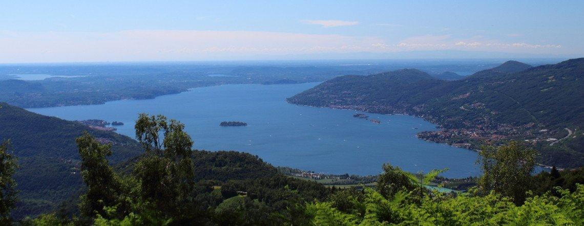 Lago Maggiore bei Baveno von oben