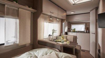 Innenraum im Bürstner Wohnwagen Premio Life Modell 2022